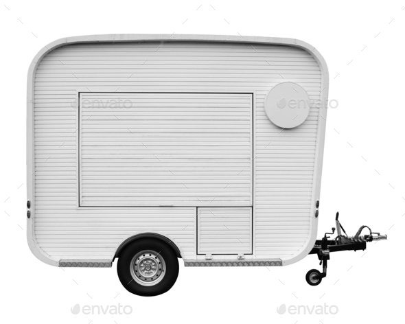 Food truck isolated on white - Stock Photo - Images