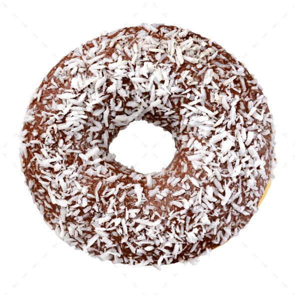 Chocolate donut isolated - Stock Photo - Images