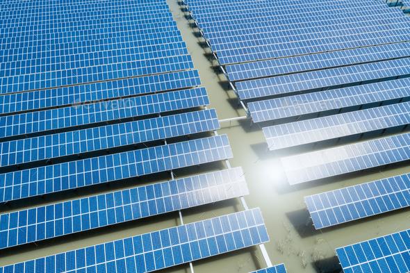 solar power plant closeup - Stock Photo - Images