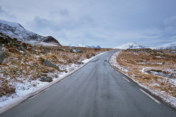 Road in Norway - Stock Photo - Images