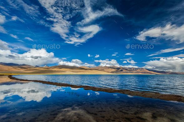 Lake Tso Moriri, Ladakh - Stock Photo - Images