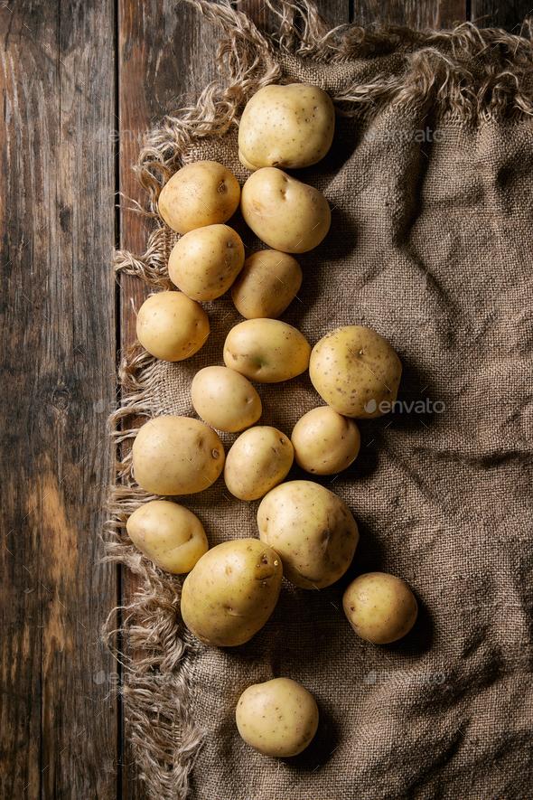 Raw organic potatoes - Stock Photo - Images