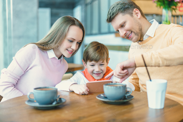 Smiling family - Stock Photo - Images