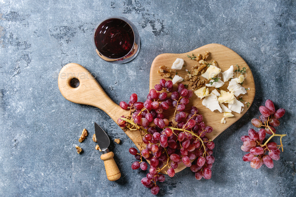 Grapes and cheese - Stock Photo - Images