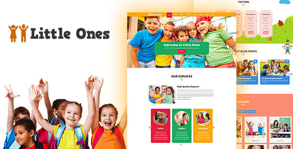 ThemeForest Little Ones One Page Children Daycare WordPress Theme 20705285