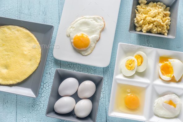 Variety of egg dishes - Stock Photo - Images