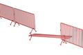 Broken crowd control fence - PhotoDune Item for Sale