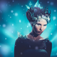 Beautiful ice queen in a falling snow - PhotoDune Item for Sale