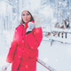 Happy woman in a snow landscape - PhotoDune Item for Sale