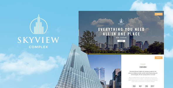ThemeForest Skyview Complex One Page Single Property WordPress Theme 20901243
