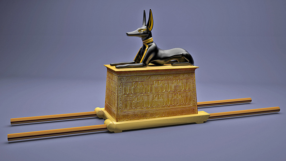 Egyptian Anubis Shrine Tutankhamun - 3DOcean Item for Sale