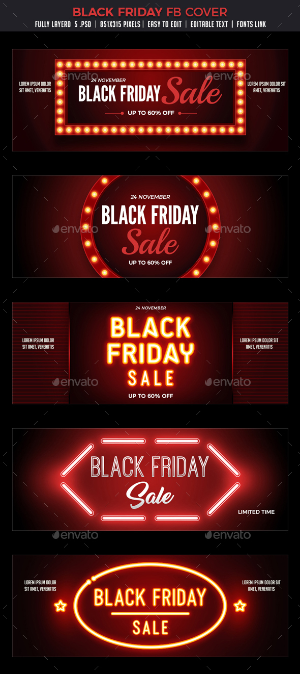 Black Friday Facebook Cover - Facebook Timeline Covers Social Media