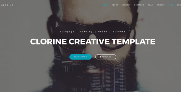 Clorine - Responsive Creative Portfolio Template - Business Corporate