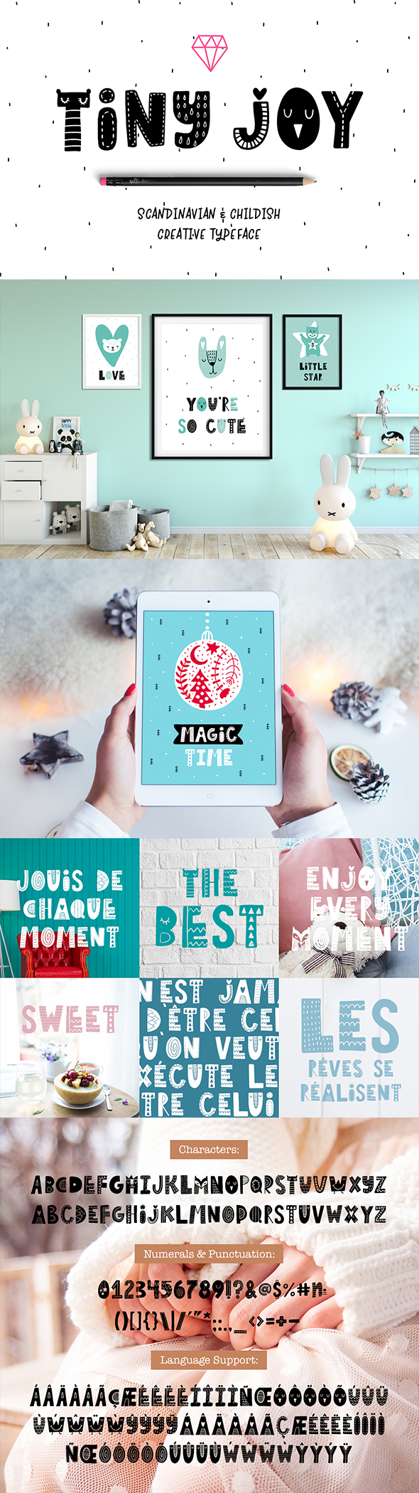 GraphicRiver Tiny Joy Font Scandinavian & Kids 20894345
