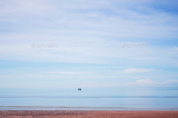 Beaches on blue sea - Stock Photo - Images