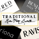 Traditional Font Bundle - GraphicRiver Item for Sale