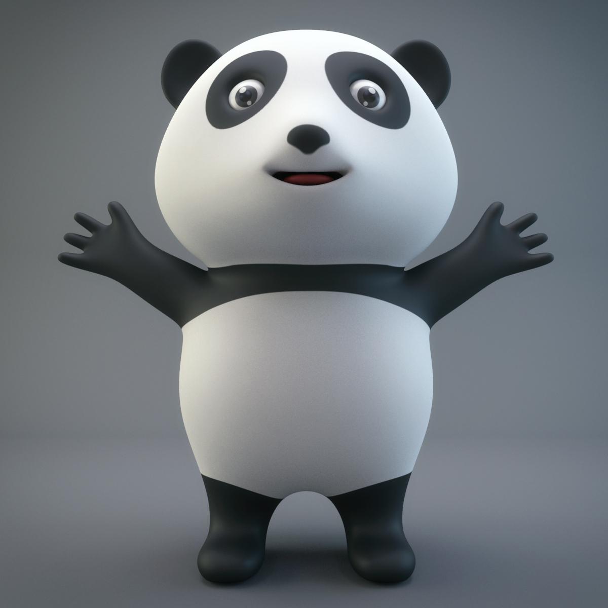 Cartoon Panda By Geek World 3docean