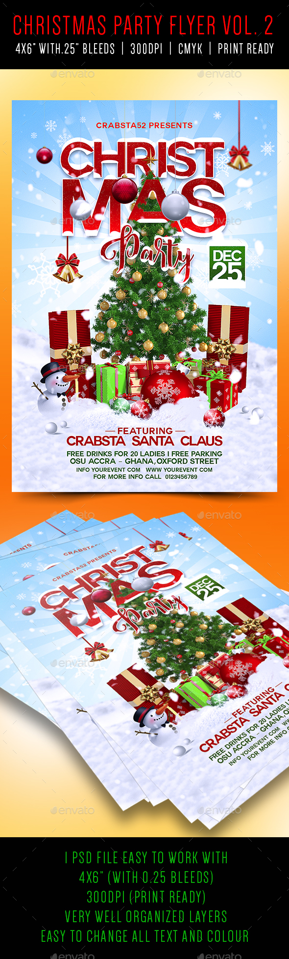 Christmas Party Flyer Vol 2