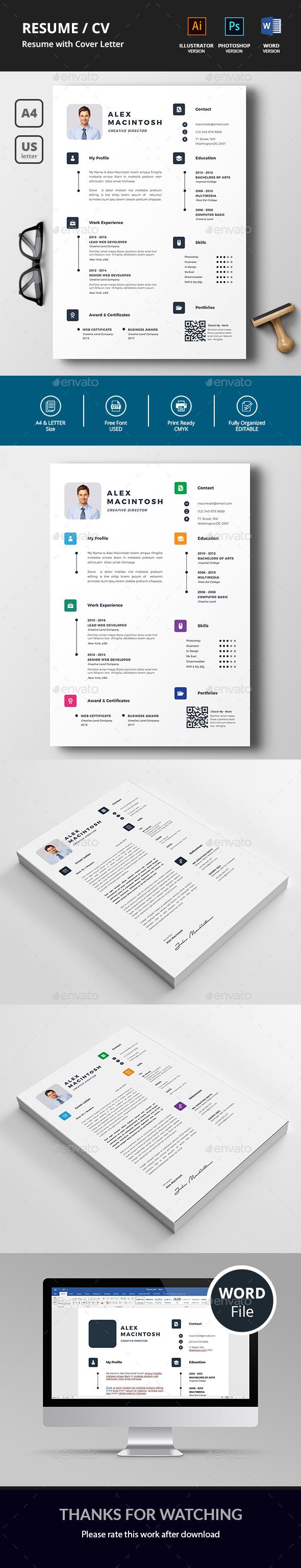 GraphicRiver Resume CV 20901749