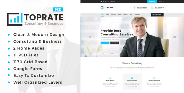 ThemeForest TopRate Consulting Business PSD Template 20901779