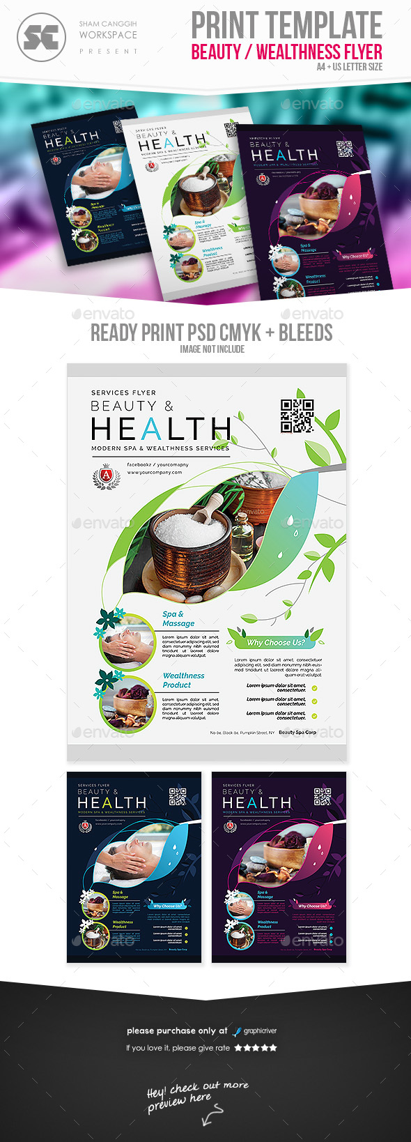 GraphicRiver Beauty Spa Flyer 20901883
