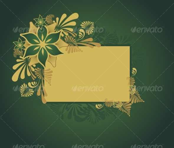 Golden floral frame - Backgrounds Decorative