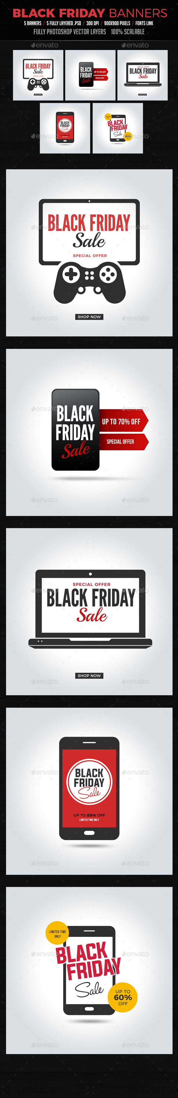 Black Friday Banners Instagram - Banners & Ads Web Elements