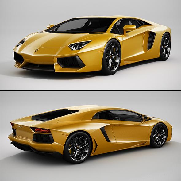 3DOcean Lamborghini Aventador LowPoly 20902015