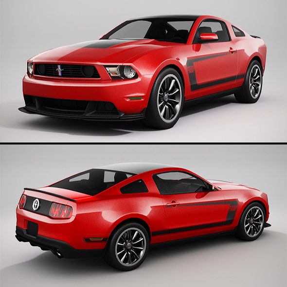 3DOcean Ford Mustang Boss 302 2012 LowPoly 20902754