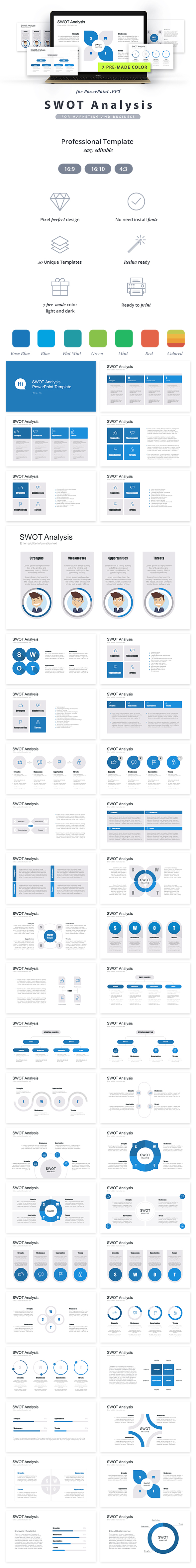 GraphicRiver Swot Analysis PowerPoint Template 20903124