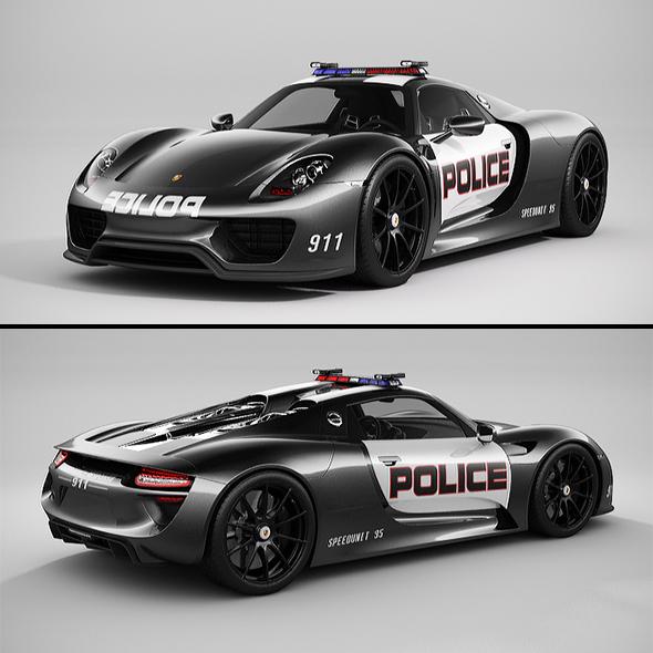 3DOcean Porsche 918 Spyder Police 20903126