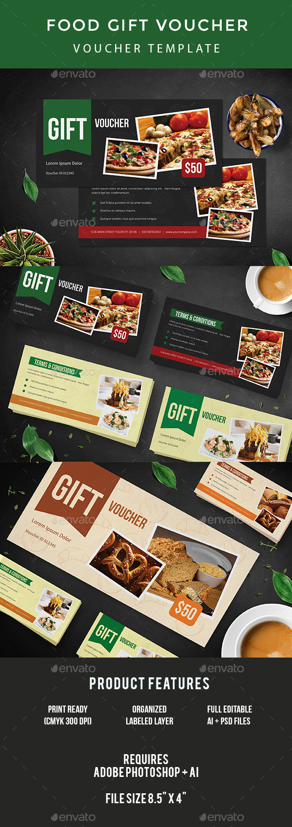 GraphicRiver Food Gift Voucher 20903165