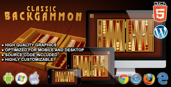 Classic Backgammon - HTML5 Board Game - CodeCanyon Item for Sale