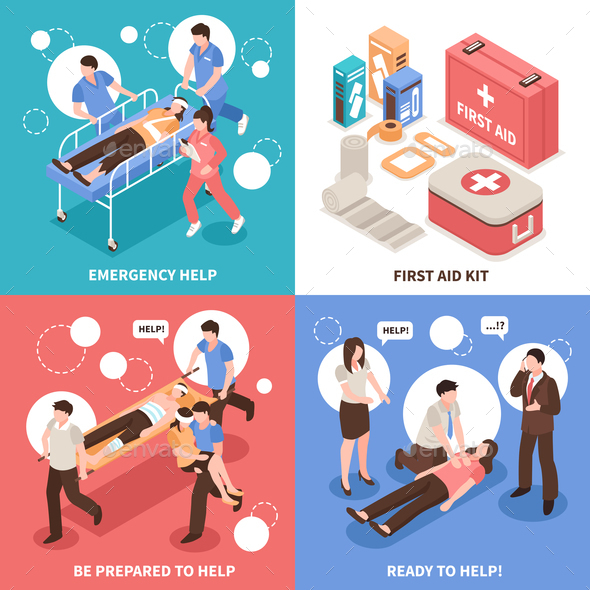 GraphicRiver First Aid Isometric Concept 20903342