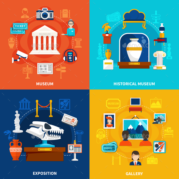 Museum 2x2 Design Concept - Miscellaneous Vectors