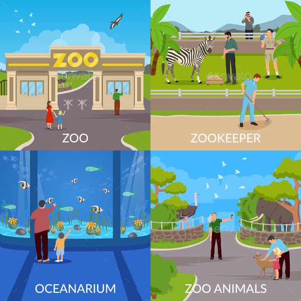 Zoo 2x2 Design Concept - Animals Characters