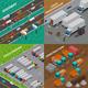 Trucks Isometric Design Concept