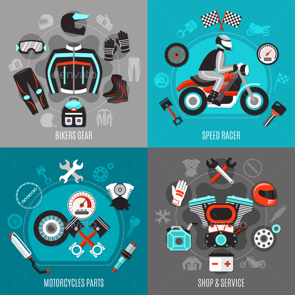 GraphicRiver Motorcycle 2x2 Design Concept 20903454