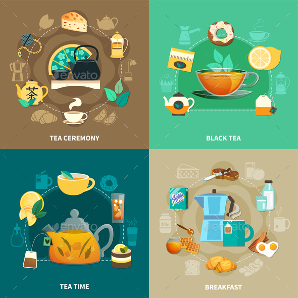 Tea Design Concept - Food Objects