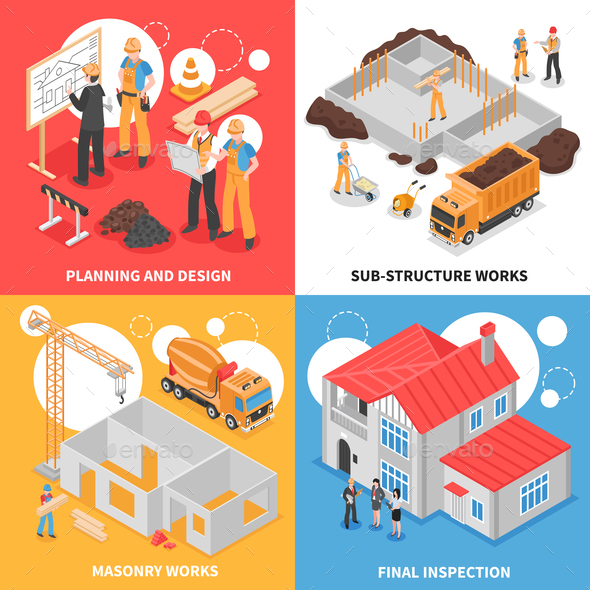 GraphicRiver Building Isometric Design Concept 20903453