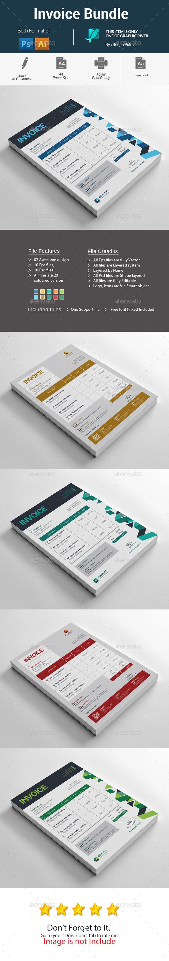 GraphicRiver Invoice Bundle 20903468