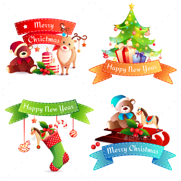 New Year Cartoon Concept - Christmas Seasons/Holidays