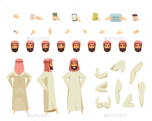 GraphicRiver Arab Man Constructor Set 20903462