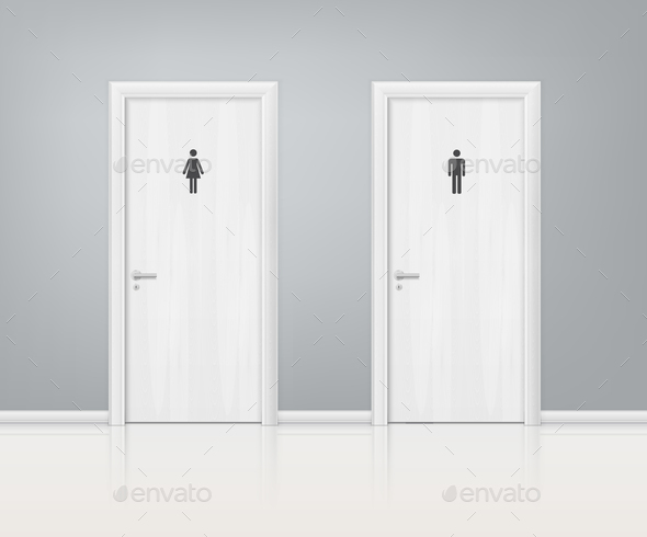 GraphicRiver Restroom Doors 20903471