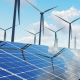 Solar Panels and Wind Turbines Background - VideoHive Item for Sale