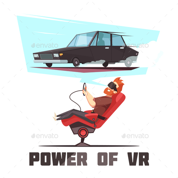 GraphicRiver VR Car Driving Simulator Cartoon 20903513