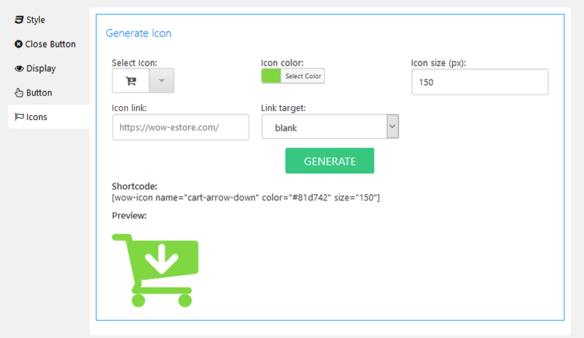 Popup & modal windows generator