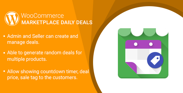 WordPress WooCommerce Marketplace Daily Deals Plugin - CodeCanyon Item for Sale