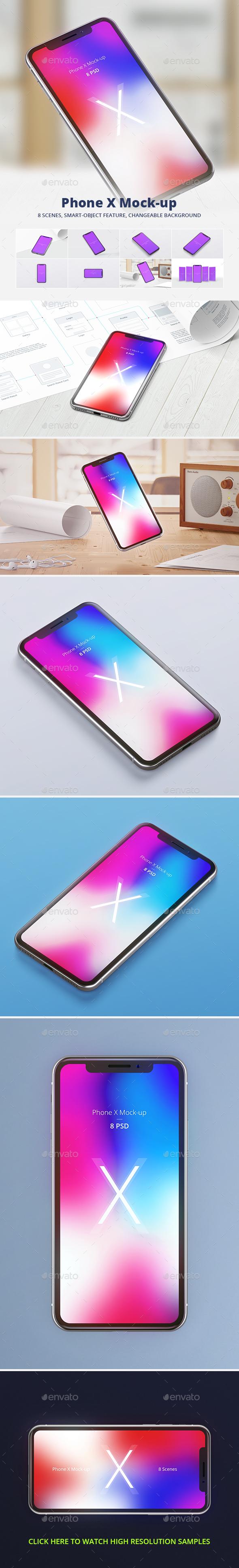 Phone X Mock-up - Mobile Displays