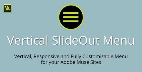 Vertical SlideOut Menu Adobe Muse Widget - CodeCanyon Item for Sale